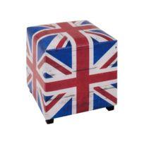 Haku Moebel - Pouf Royaume Uni carré 40 cm