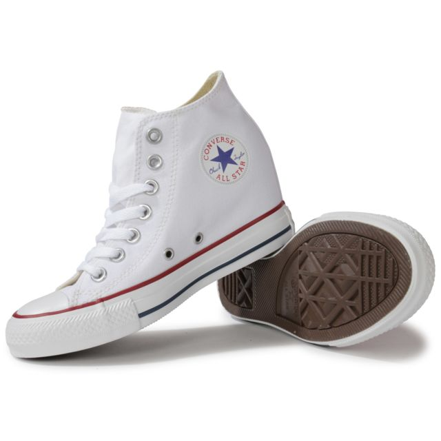 converse femme blanche compensee