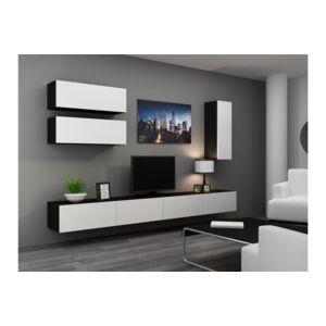 chloe design meuble tv design suspendu fino noir et blanc pas cher achat vente meubles. Black Bedroom Furniture Sets. Home Design Ideas