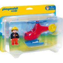 PLAYMOBIL - Pompier avec hélicoptère - 6789