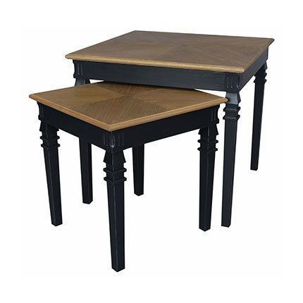 Lot de 2 tables noir - Sonate