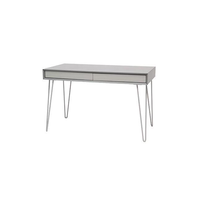 Bureau 2 tiroirs L120xP60xH75cm - gris