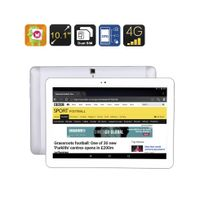 Auto-hightech - Tablette tactile telephone double sim 4G Android 10.1 pouces écran Ips, Quad Core Cpu