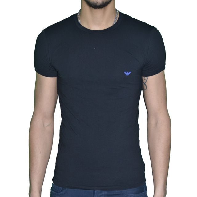 Armani - Emporio - Tshirt Manches Courtes - Homme - Underwear 111035 5a745  Crew Neck - 2be8f2e567c