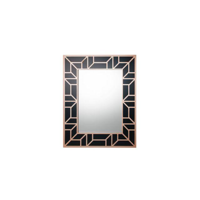 BELIANI Miroir 80 x 100 cm noir et cuivré LITHAIRE - noir