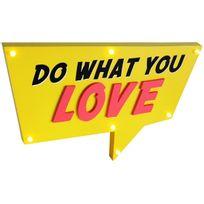 Promobo - Lampe Américaine Bulle A Suspendre Panneau Lumineux Led Do What You Love