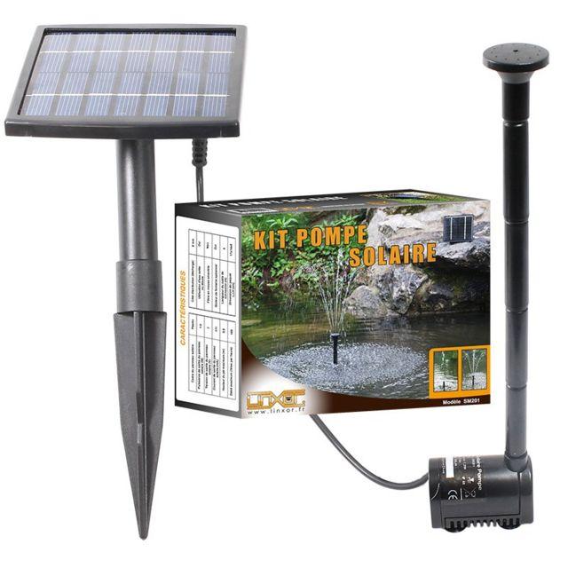 Pompe à eau solaire pour fontaine, bassin ou jardin avec câble de 5m