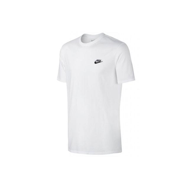 Nike Club Embroidery Futura T shirt 827021 100 Blanc pas