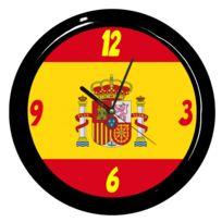 cbkreation pendule ronde drapeau espagnol par - Drapeau Espagnol A Imprimer