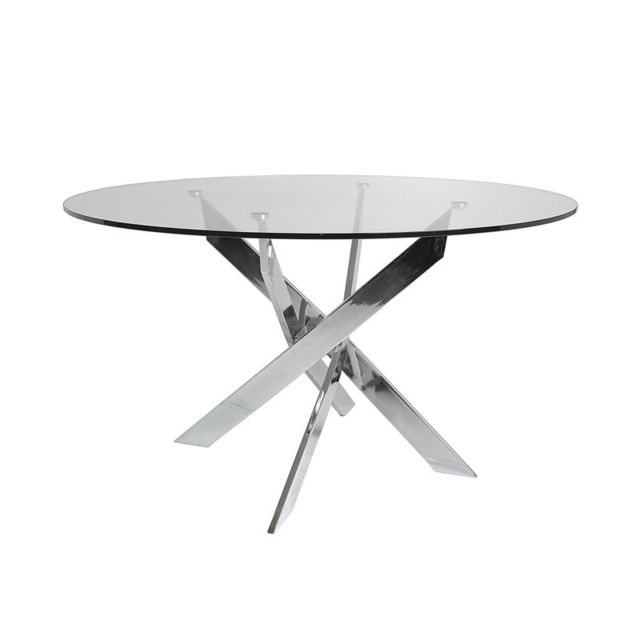 Tousmesmeubles Table de repas ronde 140 cm - Faxou