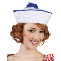 Sans - Chapeau marin blanc pompon bleu femme - taille - Taille Unique -  234762 6a0784c9e33