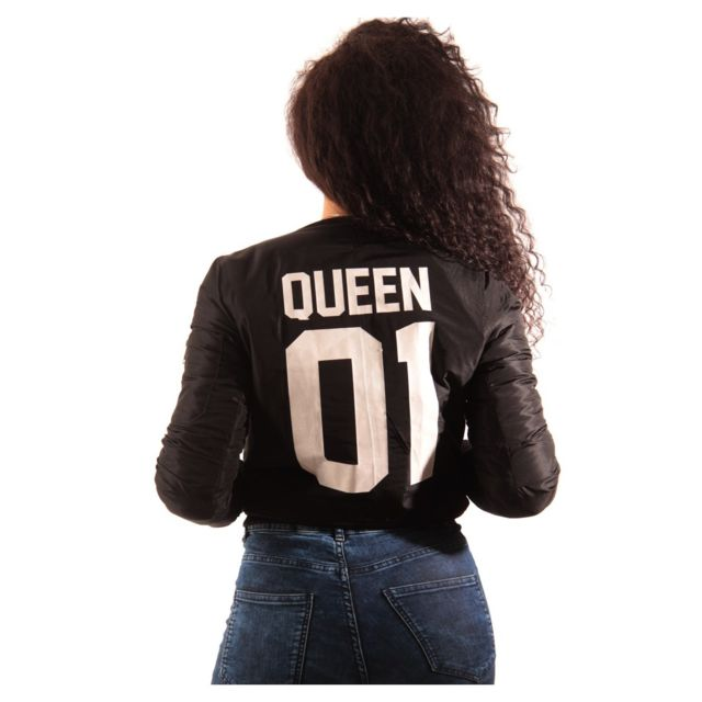 Magiccustom Blouson Bombers Femme Noir Queen Pas Cher Achat