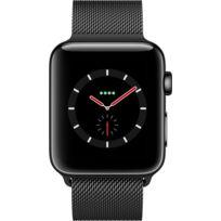 Watch 3 Cellular 42 - Acier noir / Bracelet milanais noir