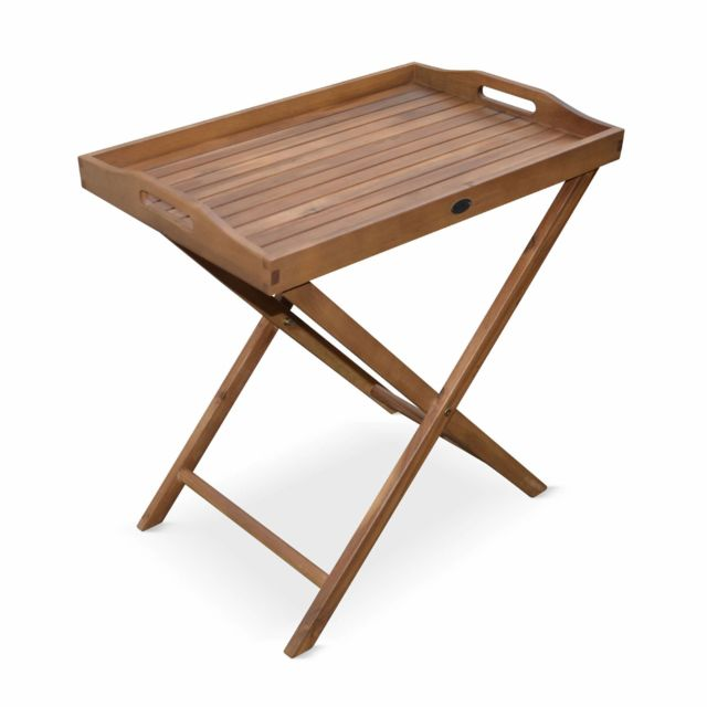 alice 39 s garden desserte de jardin en bois 68x44cm murcia plateau amovible sur pied table. Black Bedroom Furniture Sets. Home Design Ideas