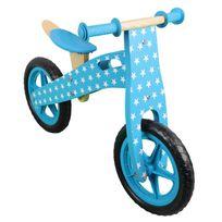 MONSIEUR BEBE - Draisienne en bois, vélo sans pédale avec selle réglable - Bleu