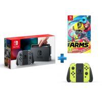 Console Switch avec une paire de Joy-Con Gris + Arms - SWITCH + Paire de Joy-Con jaune