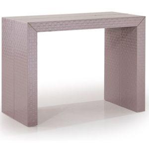 Lekingstore table console extensible osier tresse taupe - Console extensible taupe ...