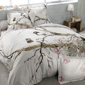 great tradition des vosges parure housse de couette sakura craie cm x cm with housse de couette. Black Bedroom Furniture Sets. Home Design Ideas