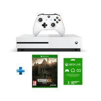 MICROSOFT - Xbox One S 500 GO + Resident Evil 7 Xbox One + Abonnement 3 mois offert