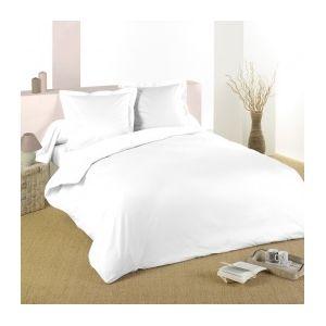 marque generique housse de couette 260 cm confort blanc 260cm x 240cm pas cher achat. Black Bedroom Furniture Sets. Home Design Ideas