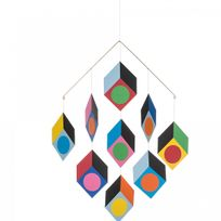 Livingly - Mobile Cubillusion Multicolor 9 Style Vasarely