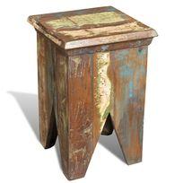 Vimeu-Outillage - Tabouret carré antique vintage