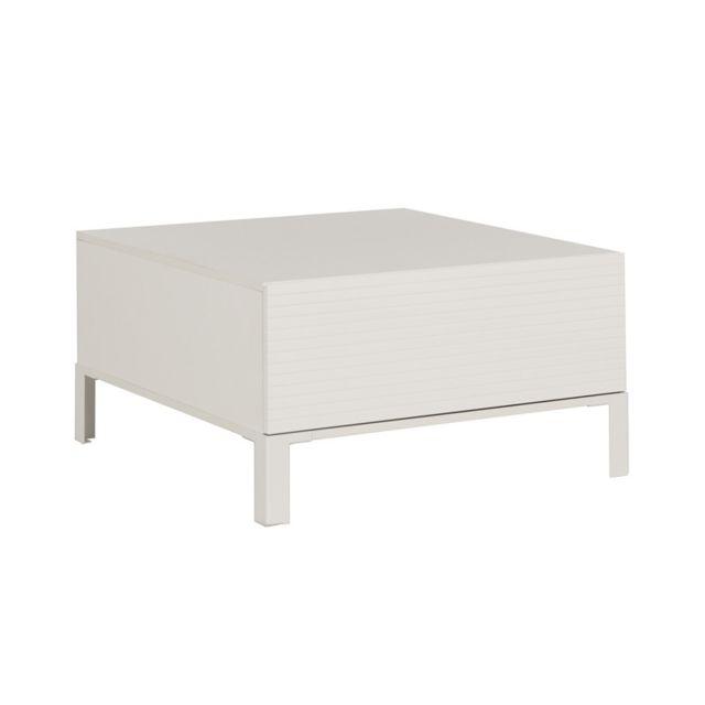 Tousmesmeubles Table basse 1 tiroir 1 niche - Olonne