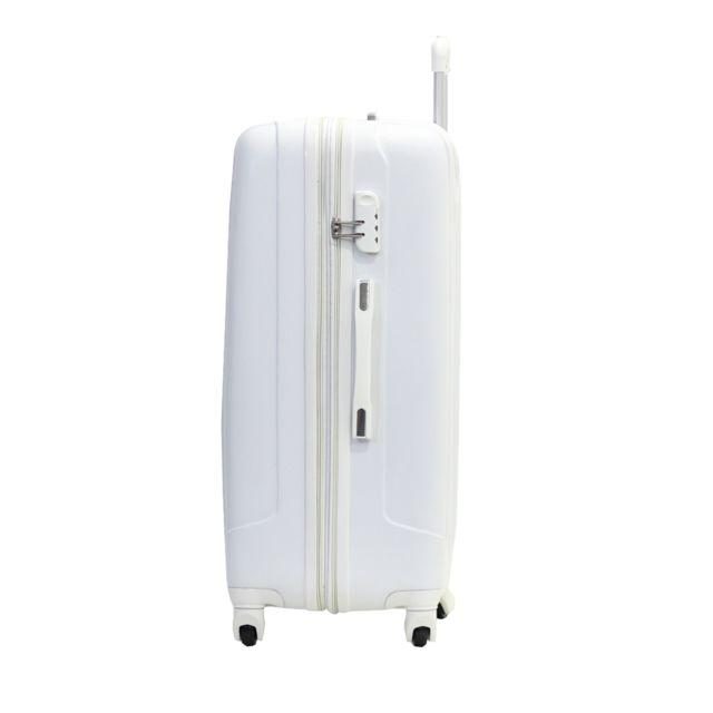 "Alistair - Valise Grande Taille 75 cm - ""Airo"" - Abs Ultra Légère - 4 Roues Blanc"