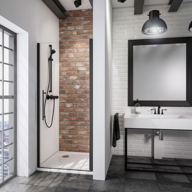 schulte porte de douche pivotante 70 x 192 cm verre. Black Bedroom Furniture Sets. Home Design Ideas