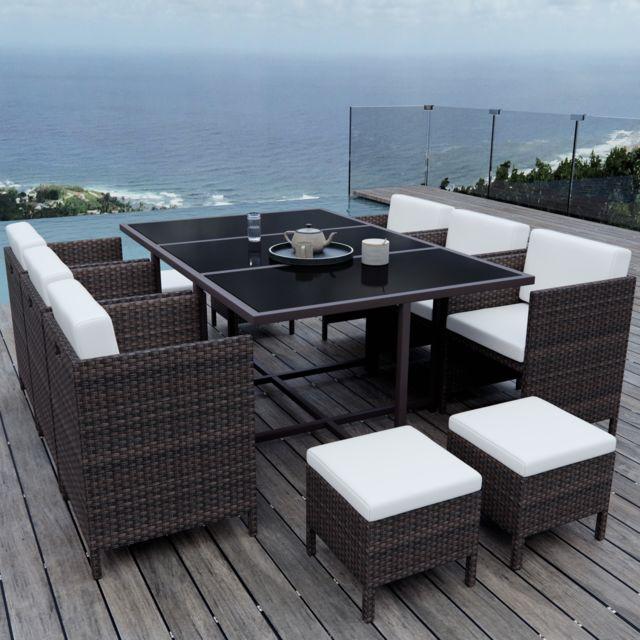 Ims garden munga 10 places ensemble encastrable salon - Salon de jardin encastrable 10 places ...