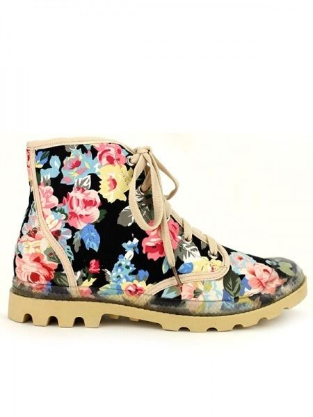 524131ddc78024 Cendriyon - Baskets Tissus Montante Florals Weide Multicolore - pas ...