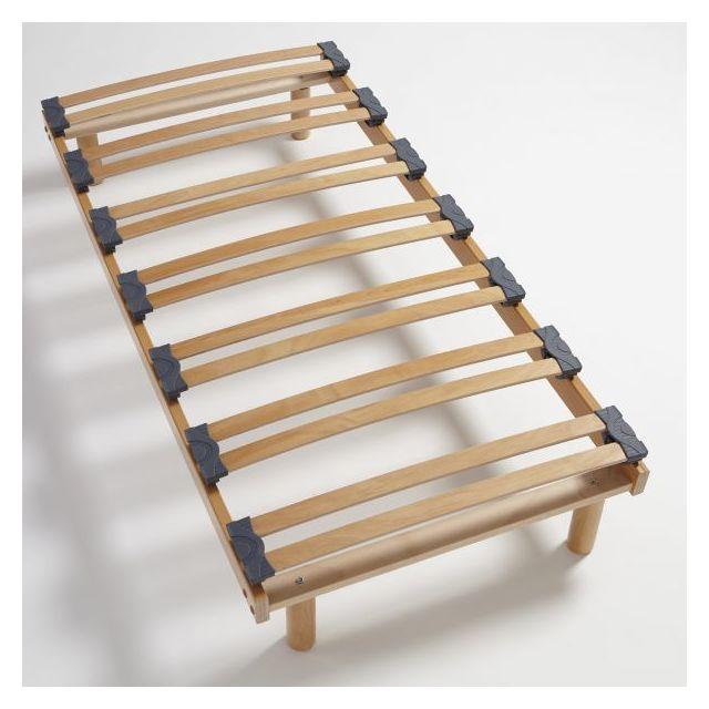 atelier de morphee sommier lattes avec pieds pas. Black Bedroom Furniture Sets. Home Design Ideas