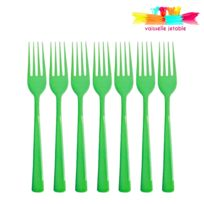 Vaisselle-jetable - 50 fourchettes jetables plastique vert