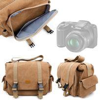 Duragadget - Sacoche beige pour Nikon D3200, Coolpix L330, D5300, D3300