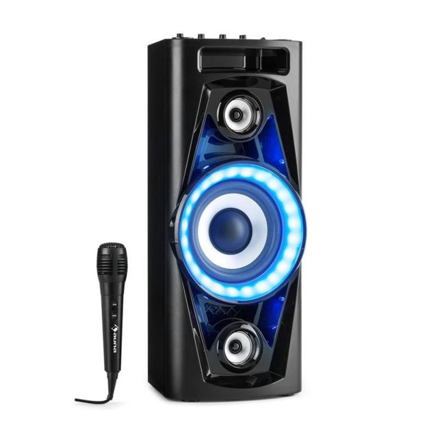 AUNA PPS 35 Système audio enceinte Bluetooth 2x USB MP3 AUX FM LED + micro