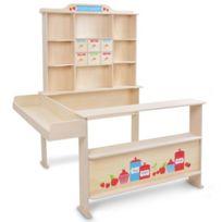 Infantastic - Stand de la marchande pour enfant avec comptoir, tiroir et cie