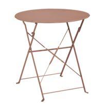 ozalide table de jardin ronde provence 60 cm taupe - Table Ronde Jardin