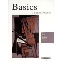 Edition Peters - Partitions Classique Fischer Simon - Basics, By Simon Fischer - Violin Ensemble à Cordes Soldes