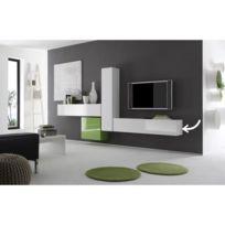 Miliboo - Elément mural Tv Colored horizontal ou vertical Laqué Blanc