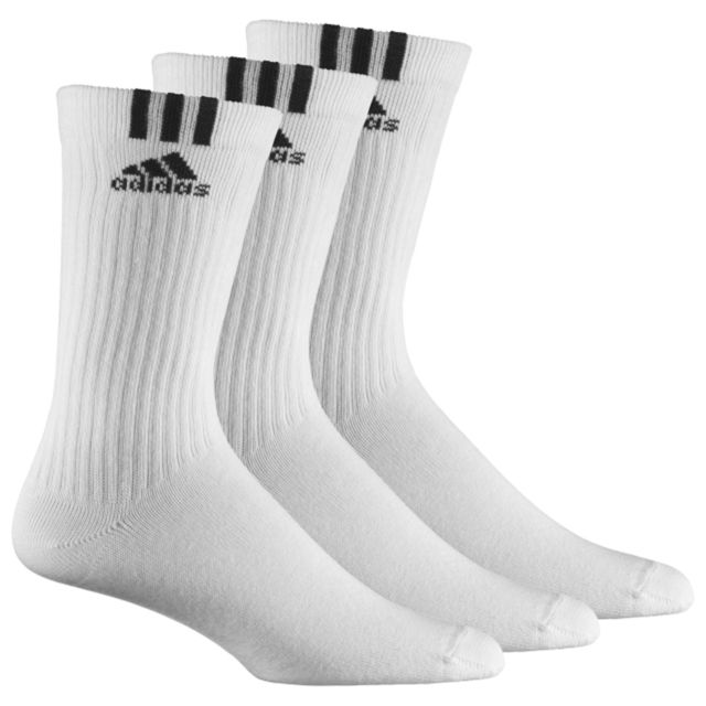 Adidas performance Chaussettes 3S Crew T 3PP pas cher