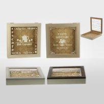 Revimport - Boîte pour 25 capsules café bois avec vitre 20x26