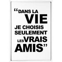 Atmosphera - Toile imprimée citation - 48 x 68 cm - Amis