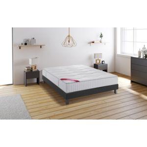 relaxima hemisphere ensemble sommier matelas m moire de forme dunlopillo 160x200 blanc. Black Bedroom Furniture Sets. Home Design Ideas