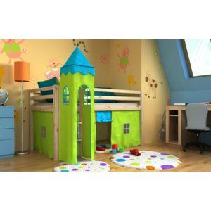 mpc lit enfant avec tour sommier matelas et rideau n a nc pas cher achat vente lit. Black Bedroom Furniture Sets. Home Design Ideas