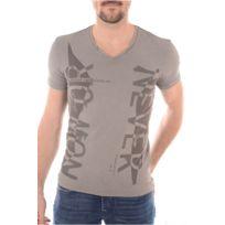 2bd8baa2ddcbb Carisma - Homme - T-shirt slim fit stretch tendance col V 4230 rouge ...