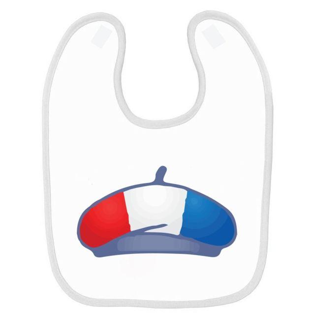 849857b2f4c7 Mygoodprice - Bavoir bébé imprimé France drapeau berêt Blanc - pas ...
