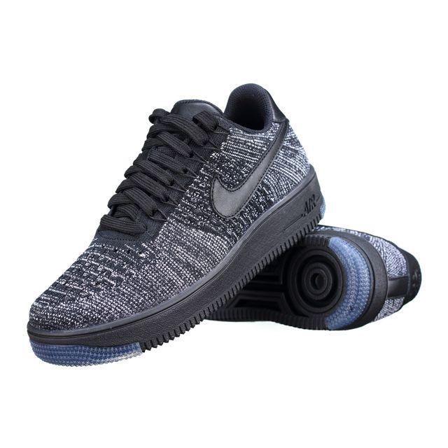 Nike Basket W Af1 Flyknit Low 820256 007 Noir pas cher Achat