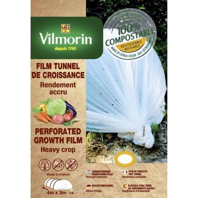 MARQUE GENERIQUE PAILLAGE - VOILE - PROTECTION CULTURE Film de croissance perforé en farine de céréales - 2 x 4 m