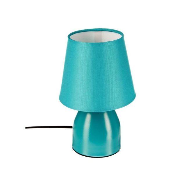 jja lampe de chevet bleu turquoise pas cher achat vente lampes poser rueducommerce. Black Bedroom Furniture Sets. Home Design Ideas