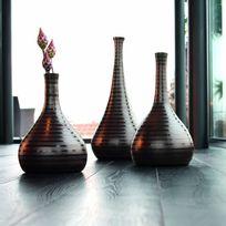 Asa - Vase en céramique marron fait main - Cuba déco